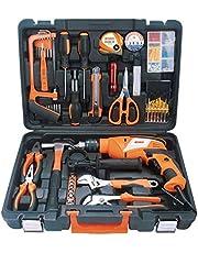 Lawazim Heavy Duty Impact Drill Tool Set 13mm 810 Watt with 100-Piece Accessories