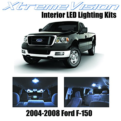 Xtremevision Interior LED for Ford F-150 F150 2004-2008 (5 Pieces) Cool White Interior LED Kit + Installation Tool