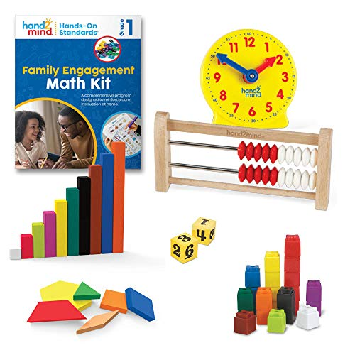 hand2mind - 93531 Hands-On Standards, Learning at Home Family Engagement Kit for Grade 1, Math...