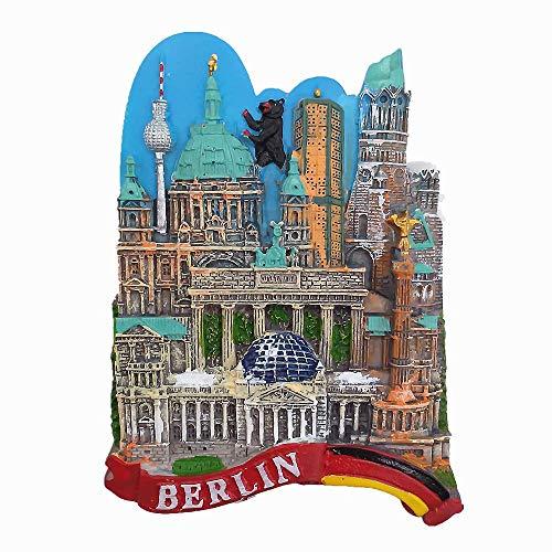 Super schöner Berlin Deutschland 3D Kühlschrankmagnet Touristen-Souvenir Geschenkkollektion Haus & Küche Deko Magnetaufkleber Berlin Deutschland Kühlschrankmagnet