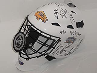 2018 Buffalo Sabres Team Signed Winter Classic Goalie Helmet Jack Eichel Kane ++ - Autographed NHL Helmets and Masks