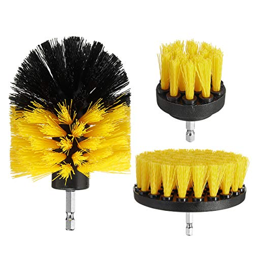 3Pcs/Set Combo Electric Drill Scrubber Brush Kit For Cleaning Kitchen Bathroom Tub