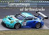Supersportwagen auf der Rennstrecke (Tischkalender 2022 DIN A5 quer)
