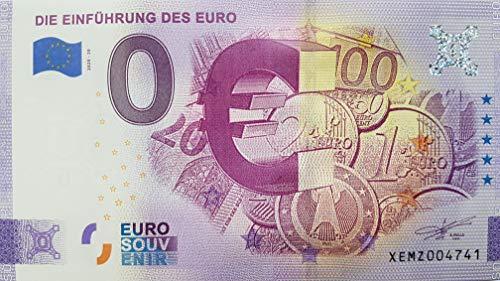 0-Euro-Schein Die Einführung des Euro Deutschland Souvenirschein (2020-20) Null Euro € Sammler
