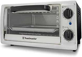 Toastmaster TM-102TR 4-Slice Toaster Oven, 10-Litre, Silver
