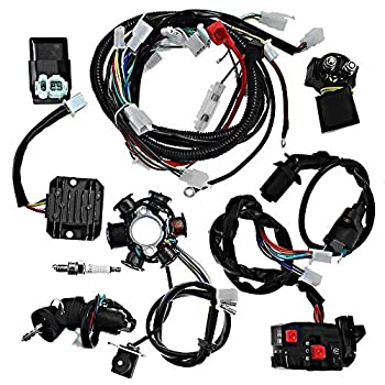 [DIAGRAM_3ER]  Amazon.com: Complete electrics all wiring harness wire loom assembly for  GY6 4-Stroke Engine Type 125cc 150cc Pit Bike Scooter ATV Quad: Automotive | Custom Harness Wiring Looms |  | Amazon.com