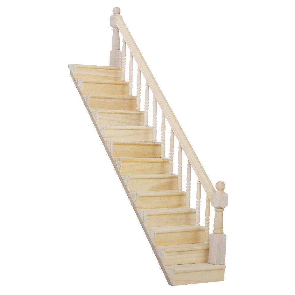 Amazon.es: TOOGOO 1:12 Casa de munecas de madera con escalera Baranda Derecha premontado 45-Grado Pendiente: Juguetes y juegos