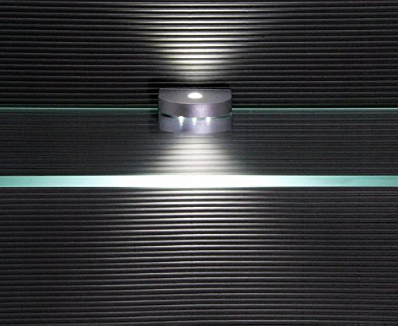 LED Glaskantenbeleuchtung   4-er Komplettset   Glasbodenbeleuchtung   2296-4   Clip   Lichtfarbe kalt wei   Vitrinenbeleuchtung   Glasplattenbeleuchtung