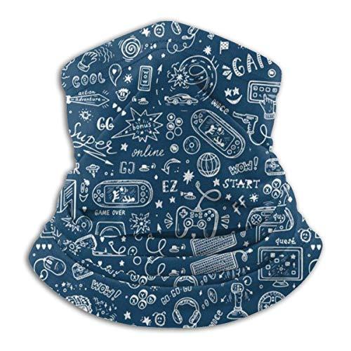 ASDAH Gadget Icons Vector Naadloos patroon comfortabele fleece nek warme bivakmuts