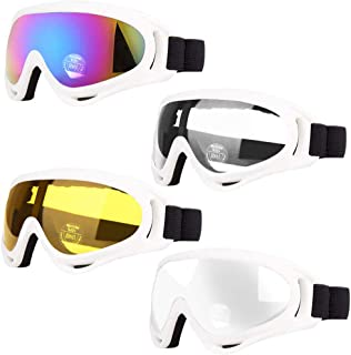 Peicees 4 Pack Ski Goggles for Women Men Kids Snow Sports Snowboard Goggles