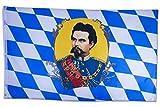SCAMODA Bundes- und Länderflagge aus wetterfestem Material mit Metallösen (König Ludwig) 150x90cm