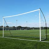 QUICKPLAY Kickster Elite Soccer Goal 12x6'   Ultra Portable Indoor & Outdoor Football Goal Features Weighted Base [Single Goal]