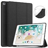 Soke iPad 9.7 2018/2017 Case with Pencil Holder, Slim Fit Smart iPad Case...