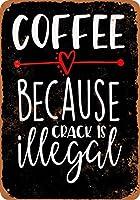 金属錫サインビンテージシックアート装飾割れが違法なのでコーヒー