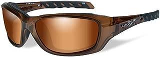 Wiley X Gravity Sunglasses, Bronze Flash, Brown Crystal