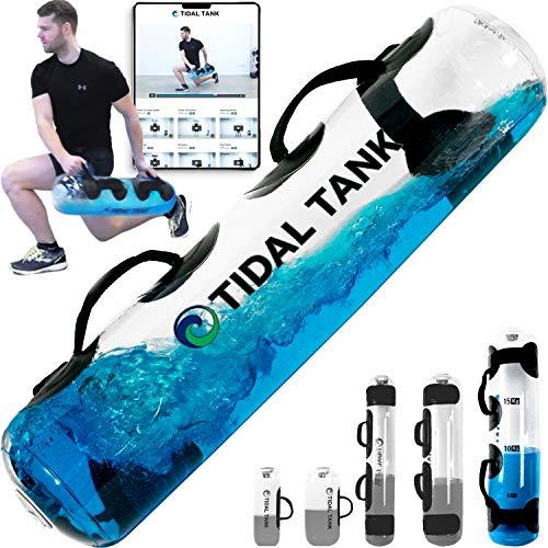 Tidal Tank - Bolsa de agua en lugar de arena - Bolsa de agua ajustable - Para entrenamientos de abdominales y equilibrio - portátil, Regular (max 49 lbs), Regular: 22,2 kg - Azul