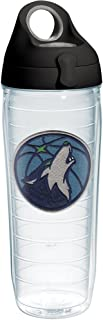 Tervis NBA Minnesota Timberwolves Primary Logo Tumbler with Emblem and Black with Gray Lid 24oz Water Bottle, Clear