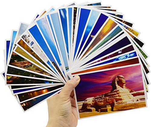 Tarjetas de Navidad Liuer 60PCS Tarjetas Postales del MundoTarjeta de Felicitación Cumpleaños de Aniversario Feliz Amante de boda invitar Regalo Navidad para niñas Artesanía y Invitaciones de Fiesta