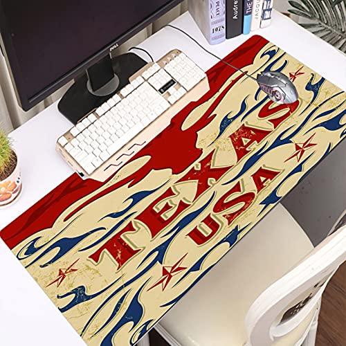 FAQIMEI Alfombrilla Gaming para PC Cartel Vintage Texas Estilo Vaquero Occidental Grunge Máxima Precisión con Base de Caucho Natural, Máxima Comodidad