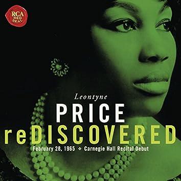 Leontyne Price - Carnegie Hall Recital Debut