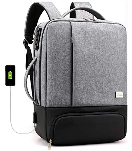 Anti-Theft Laptop Backpack 15.6 Inch Backpack Mens, Business Travel Work School Bag with USB Charging Port and Lock, Water Resistant Boy Girl Teen Casual Hiking Computer Daypack