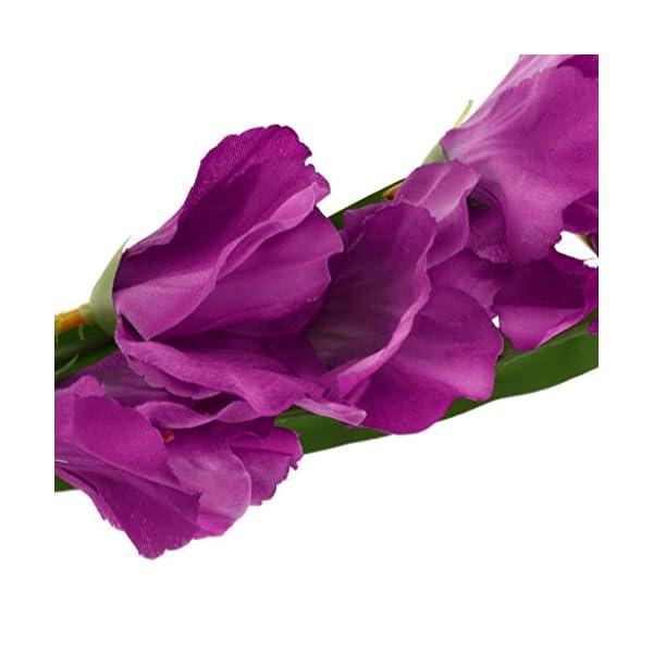 F Fityle 4pcs 80cm Tallo De Flor De Gladiola Artificial para Jardín Multi-color-01