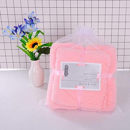 OJPOGHU Toallas de baño - Tablas Grandes, 100% algodón, 2 Piezas por Juego (Color : Pink, Size : 35 * 75+70 * 140)