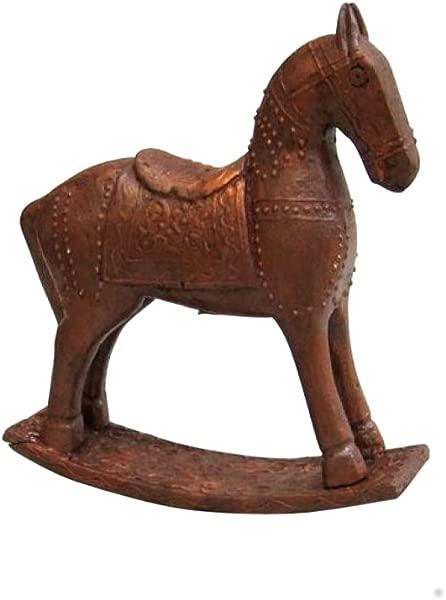 Nautical Decor Wooden Rocking Horse