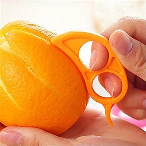 LDLCNCY Mini éplucheuses portatives en Plastique Orange - Type de Doigt Ouvert Orange Peel 5 pcs