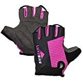 Cycling Gloves (Pink - Half Finger, Small)