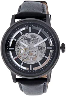 Kenneth Cole Automatic Men's Black Leather Gray dial Watch 10011601