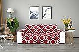 ZZHEXIN Funda acolchada para sofá, sillón, protector de muebles, fundas para sillas, impermeable, antideslizante, de microtela, para salón, restaurante (1 plaza, 2 plazas, 3 plazas), color rojo