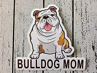Bulldog Mom English Bulldog Dog Silhouette Vinyl Sticker Decal Laptop Decal Car Window Truck Decal Sticker
