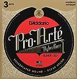 D'Addario EJ45-3D Pro-Arte, cuerdas de nailon para guitarra clásica, tensión...