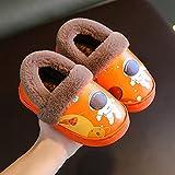 Y-PLAND Zapatos algodón para niños, Cuero PU Impermeables niños niñas Zapatillas Antideslizantes para Interiores y Exteriores, Zapatos de algodón Dibujos Animados con patrón Astronauta Lindo