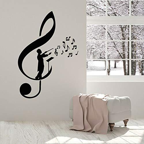 Tianpengyuanshuai behang van vinyl met vioolsleutel noten ladder meester hoofdband sticker muziek studio decoratie muur