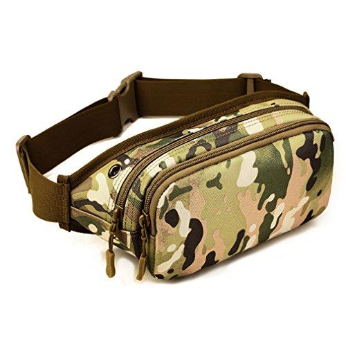 Xieben Nylon Laufgürtel Hüfttasche für Herren Frauen Outdoor Sports Tactical Jogging Camping Gürteltasche Bauchtasche Hip Bumbag Handytasche Case Wallet für iPhone/Galaxy Plus City Camouflage