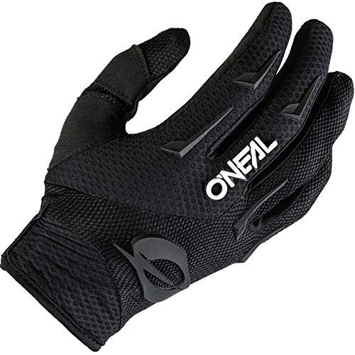 O'NEAL | Guanti Bike & Motocross | MX MTB DH FR Downhill Freeride | Materiali durevoli e flessibili, palmo ventilato | Element Glove | Uomo | Nero Bianco | Taglia M