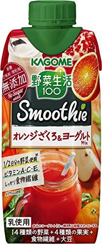 カゴメ野菜生活100スムージーオレンジざくろ&ヨーグルト330ml ×12本