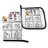 Mjmhvfhtgdcgdcx Hero Type S IKEA Instrucciones Un Hombre -Manoplas y soportes para ollas resistentes al calor guantes de cocina para hornear guantes de cocina