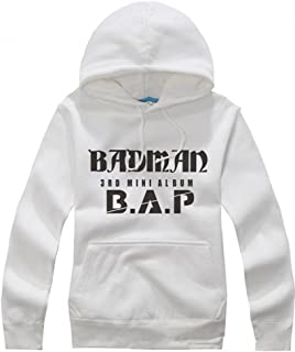 BAP KPOP matoki badman hoodie B.A.P. accessories cap sweater S M L XL(m white)