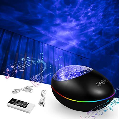 Proyector Estrellas,Galaxia Techo Bebé Luz Nocturna Infantil Sky Lite Lampara de Música Colores Control Remoto Bluetooth Temporizador USB Océano Habitación,Regalos Adultos Niños Mujer Adolecente