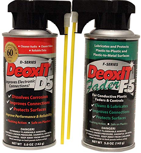 Hosa DeoxIT D5S6 Contact Cleaner  F5SH6 FaderLube bundle
