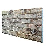 Murals - Panel falso ladrillo de poliestireno expandido resinado, tamaño 100 x 50 cm, grosor 2 cm
