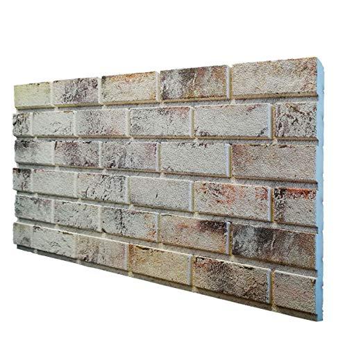 Murales - Panel de imitación de ladrillo de EPS resinado, tamaño 100 x 50 cm, grosor 2 cm