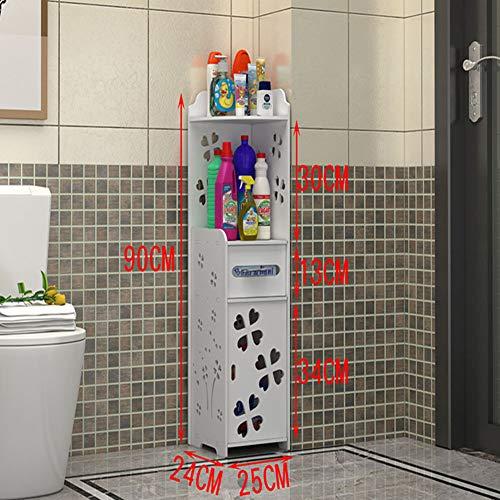 SXFYZCY Simple Locker Shelf Floor Floor Mehrschichtiges dreieckiges Badezimmer Eckschrank Aufbewahrungsschrank WC Spalt Eck WC Seitenschrank Aufbewahrungsschrank