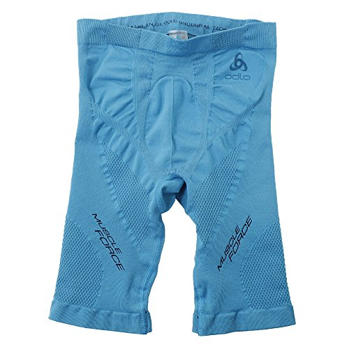 Odlo SUW Bottom Short Zeroweight Muscle Force Pantalon Homme, Blue Jewel/Diving Navy, m