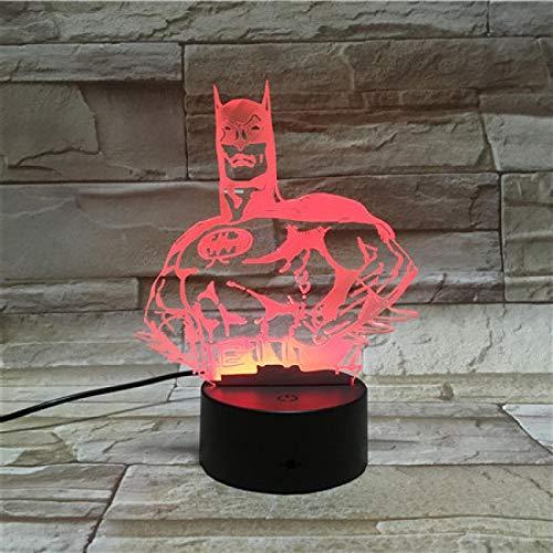 3D Nachtlicht Cartoon Figur Batman 3D Lava Lampe Halloween 7 Farbwechsel LED Nachtlicht Stimmung Dekor Geschenk Schlafzimmer Tischlampe pping