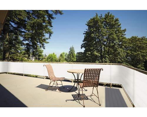 Floracord Balkonverkleidung - Sichtschutz - Balkonumspannung - cremeweiß - 90x500 cm - langlebig - UV-beständig