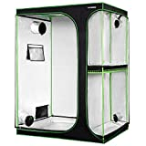 "VIVOSUN 2-in-1 60""x48""x80"" Mylar Reflective Grow Tent for Indoor..."